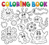 Coloring book germs theme 1 — Stock Vector