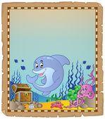 Pergamin z tematu pod wodą 3 — Wektor stockowy