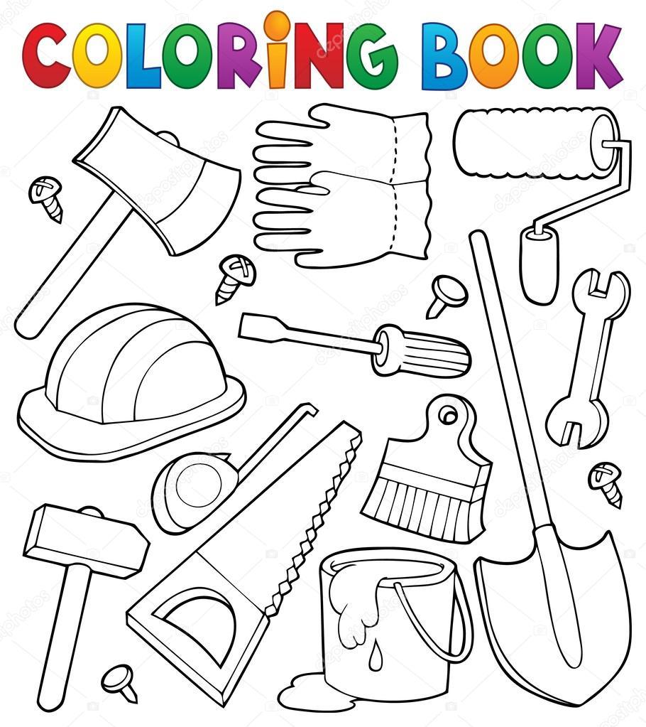 Раскраски инструменты для детей - 6