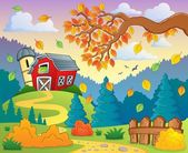 Autumn farm landscape 2 — Stock Vector