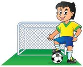 Soccer theme image 1 — Vector de stock