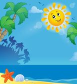Summer holidays theme image 2 — Stock Vector
