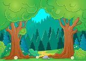 Tree theme image 9 — Stock Vector
