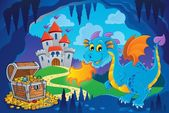 Fairy tale image with dragon 8 — Vecteur
