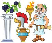 Greek theme collection 1 — Stock Vector