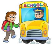 Image with school bus theme 5 — Stock Vector