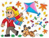 Kites theme image 7 — Stok Vektör
