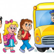 Image with school bus topic 1 — Stock Vector #51634275