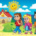 School kids theme image 4 — Stock Vector #51634493