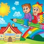 School kids theme image 7 — Stock Vector #51634547