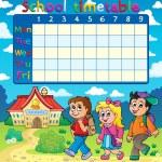School timetable composition 5 — Stock Vector #51634551