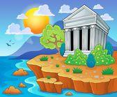Greek theme image 3 — Stock Vector