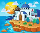 Greek theme image 6 — Vector de stock