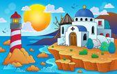 Greek theme image 7 — Vector de stock