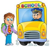 Image with school bus topic 3 — Stock Vector