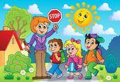 School kids theme image 2 — Stock Vector