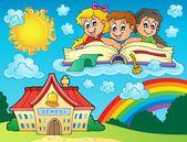 School kids theme image 8 — Stock Vector