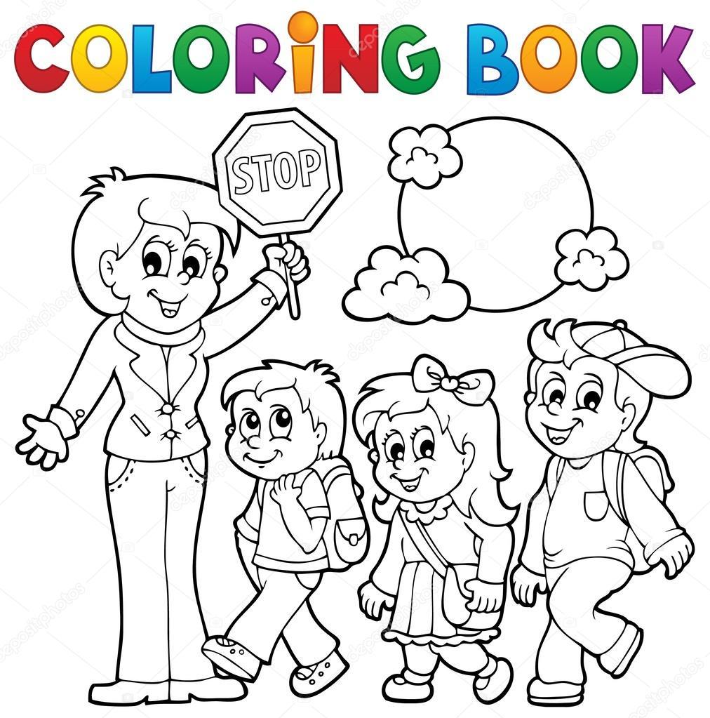 школа картинки раскраски для детей