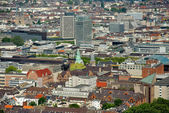 Dusseldorf from above. Germany. — Stock Photo