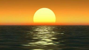 Tramonto sulla costa del mar — Video Stock