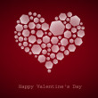 Happy Valentine's Day, heart, vector — Vettoriale Stock