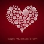 Happy Valentine's Day, heart, vector — Stok Vektör