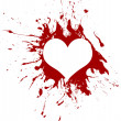Royalty-Free Stock Vector Image: Red grunge heart, vector