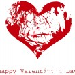Royalty-Free Stock Vector Image: Red grunge heart, vector, Happy Valentine\'s Day