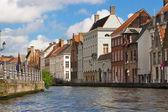 Flemish Houses in Brugge, Belgium — Stock Photo