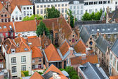 Roofs of Flemish Houses in Brugge, Belgium — Stock Photo