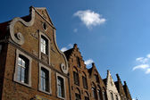 Fassade des flämischen häuser in brügge, belgien — Stockfoto