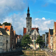JvEyckplein: old town of Bruges in Belgium — стоковое фото #12897672