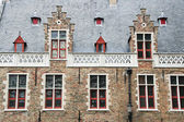 Facade of flemish houses in Brugge — Stock Photo