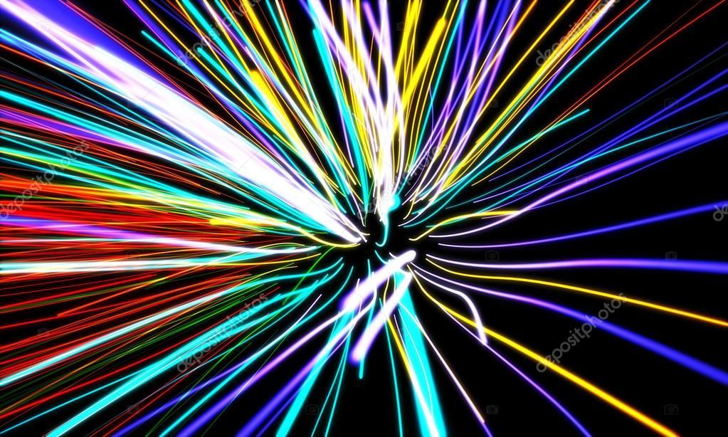 Ingrandire le linee di movimento al neon emettente luce luci — Foto Stock © k...