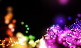 Glowing lights background with bokeh — Stock Photo