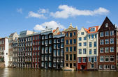 Facade of houses in Amsterdam — Stok fotoğraf