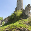 Gothic rocky castles in Poland. - Stock Photo