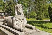 Symbols in arts - sphinx — Stock Photo