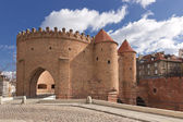 Sights of Poland. Warsaw Old Town with Renaissance Barbican — Foto Stock