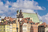 Sights of Poland. Warsaw Castle Square with king Sigismund column. — Stock Photo