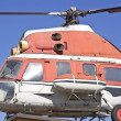 Old russian helicopter. - Stock Photo
