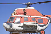Old russian helicopter. — Stock Photo