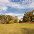 Stock Photo: Autumn sports field.
