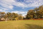 Autumn sports field. — Stock Photo