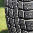 Old car tire outdoor. — Stock Photo