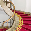 Red carpet. Stairwell in Polish palace. Royal castle in Warsaw. — Stock Photo #22018727