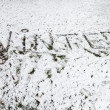 Winter background. Dirty snow. - Stock Photo