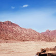 Red rocks on Sinai near Moses Mountain. — Stock Photo