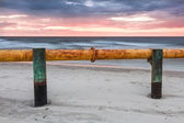 Landscapes of Poland. Sunset at Baltic sea. — Stock Photo