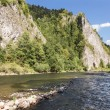Stock Photo: Sights of Poland - beautiful mountain river Dunajec.